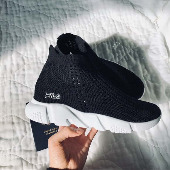 Black White Fila Black Balenciaga Shoes